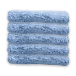 5 Microfaser Tücher Tuch Mikrofaser Fenstertuecher Glastücher Glas Blau Fenster