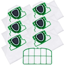 6 Staubsaugerbeutel mit Filter für Vorwerk Kobold 200 kompatibel