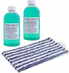 2 Reinigungsmittel-Konzentrat + Wischtuch - geeignet für Vorwerk Saugwischer Kobold SP520/530