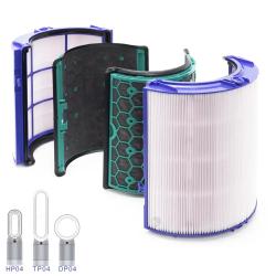 Luftreiniger Ersatzfilter kompatibel für Dyson TP04 Pure Cool Link, DP04 & HP04 HEPA Aktivkohle