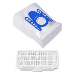 10 Staubsaugerbeutel und 1 Filter für Bosch Serie 8 BGB75X494 kompatibel