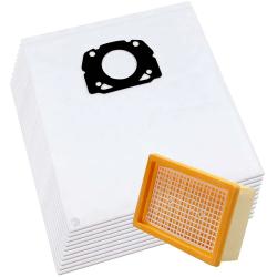 10 Vlies Staubsaugerbeutel + 1 Filter für Kärcher MV 4/5/6, WD 4/5/6 P kompatibel