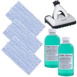 3 Wischtücher mit 1L Reinigungsmittel kompatibel für Vorwerk SP600 Saugwischer und SPB100 Akku Saugwischer