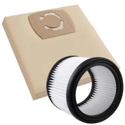 5 Staubsaugerbeutel mit Filter für WorkZone Nass- Trockensauger 25 Liter Volumen (LF 1) kompatibel