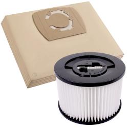 5 Staubsaugerbeutel und 1 Lamellenfilter für Bosch AdvancedVac 20 kompatibel
