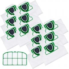 12 Staubsaugerbeutel und 1 Motorschutz Filter passend für Vorwerk Kobold VK 200